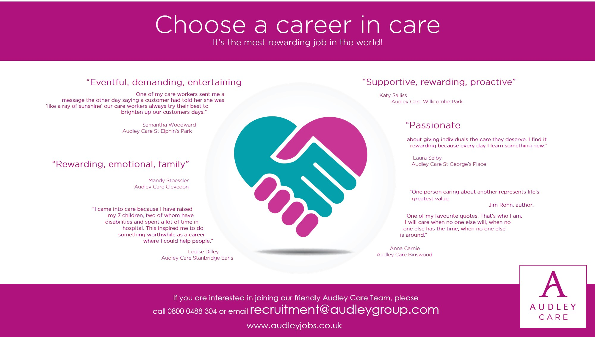 Audley Care Infographic