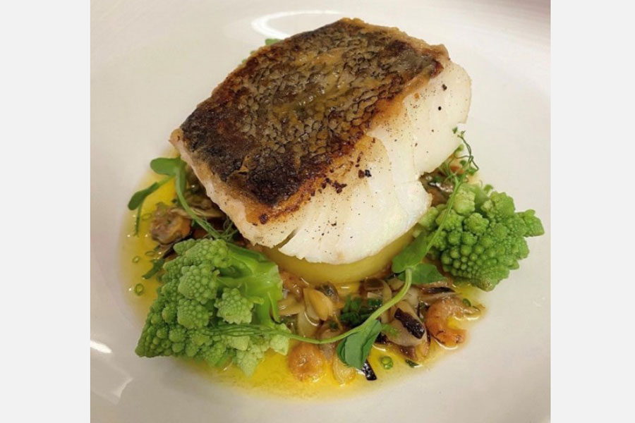 Skrei Cod with Potato Fondant, Brown Shrimp And Almond Butter